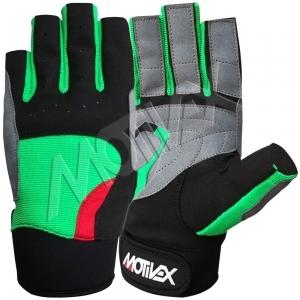 Motivex Sailing Gloves Green Short Finger-SGC-8687-16