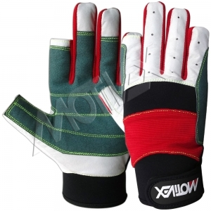 Motivex Sailing Gloves Red/Grey Long Finger-SGL-8688-00