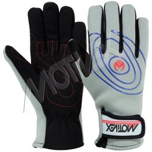 Motivex Neoprene Sailing Gloves Grey Long Finger-SGN-8639-23