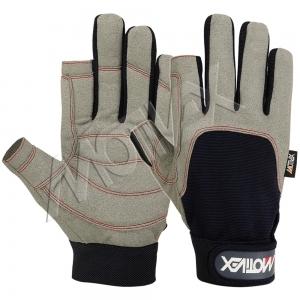 Motivex Sailing Gloves Navy/Grey Long Finger-SGL-8675-00