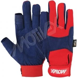 Motivex Sailing Gloves Navy/Red Long Finger-SGL-8673-00