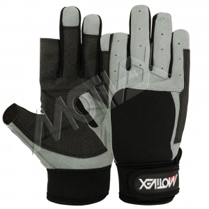 Motivex Sailing Gloves Black/Grey Long Finger-SGL-8640-00